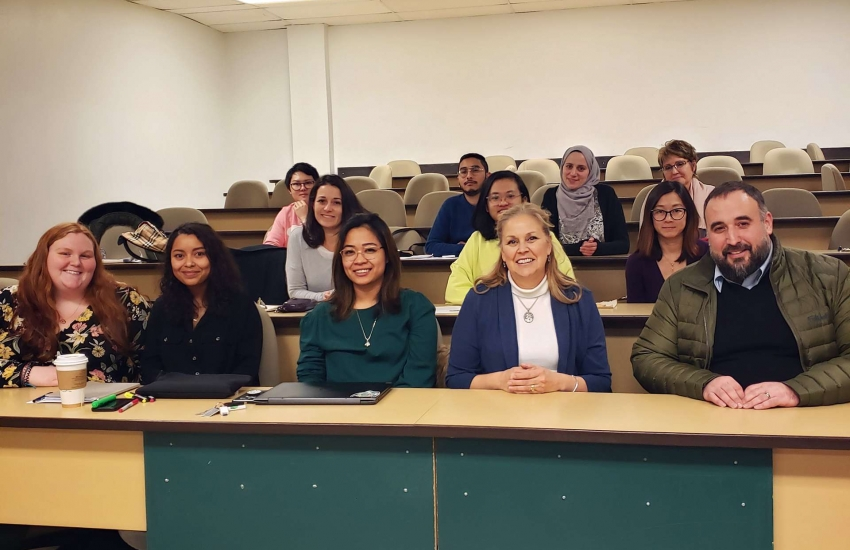 City Councillor Rino Bortolin recently sat with Sandra Ellis's Interior Design students to talk about urban renewal