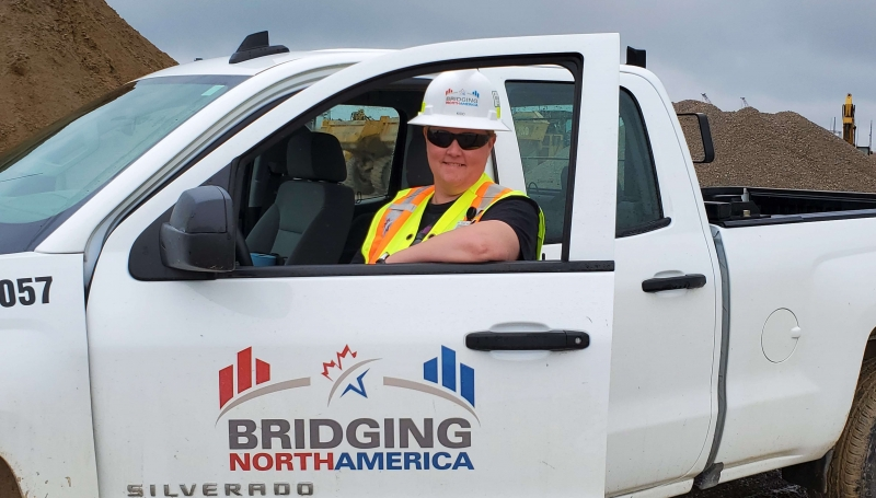 Allison Kidd, 47, works as a Field Engineer for Bridging North America, the consortium that is building the new Gordie Howe International Bridge.